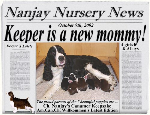 Keeper is a new mommy!